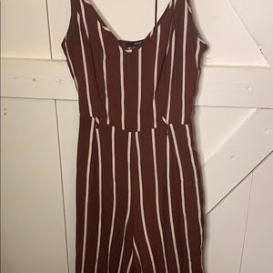 noodle strap striped jumpsuit